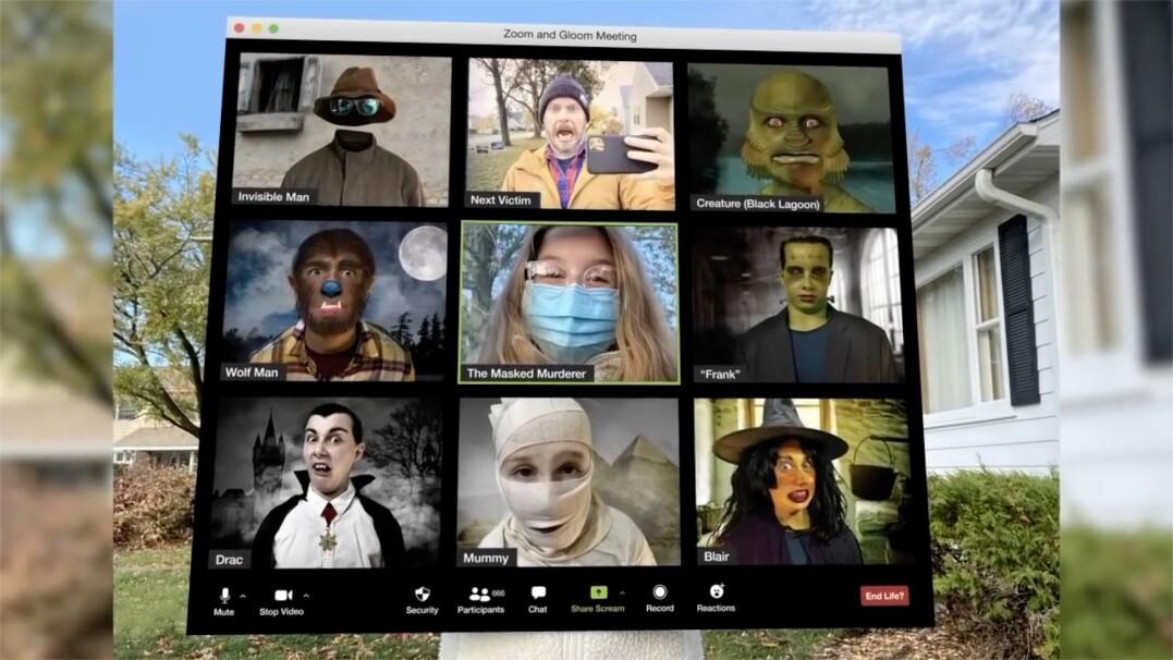 """Przebranie na Halloween na miarę 2020 roku. Na """"Gloomie"""" spotkali się mumia, wampir i czarownica"""