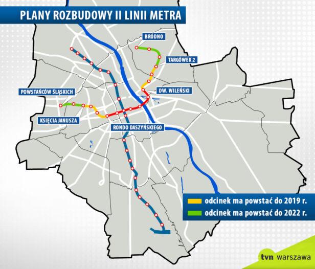 Dalsze plany rozbudowy drugiej linii metra tvnwarszawa.pl
