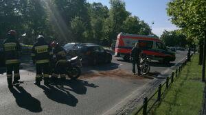 Aleje Ujazdowskie: zderzenie bmw i 2 motocykli