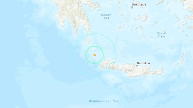 Trzęsienie ziemi u wybrzeży Krety